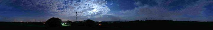 360° Panorama Lichtverschmutzung